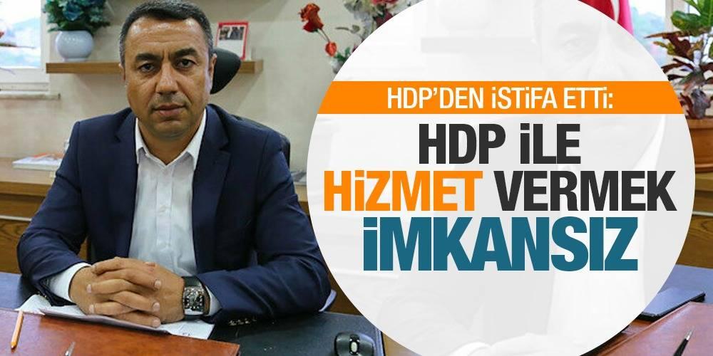 HDP'den istifa etti: HDP ile hizmet vermek imkansız