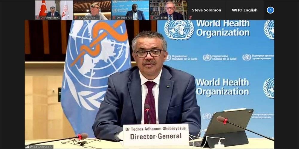 Dünya Sağlık Örgütü (DSÖ) Genel Direktörü Ghebreyesus'tan Türkiye'ye teşekkür