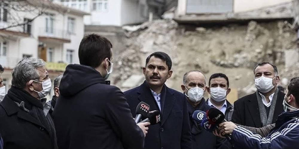 Bakan Kurum: Açelya Apartmanı ve etrafındaki apartmanların kontrollü yıkımını yürütüyoruz