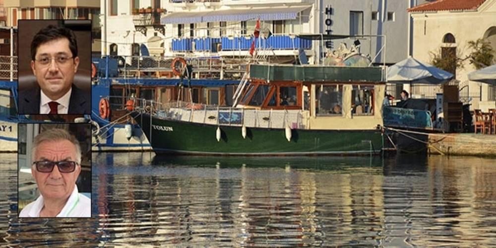 CHP'li Beşiktaş Belediye eski Başkanı Murat Hazinedar'ın Foça'daki teknesi