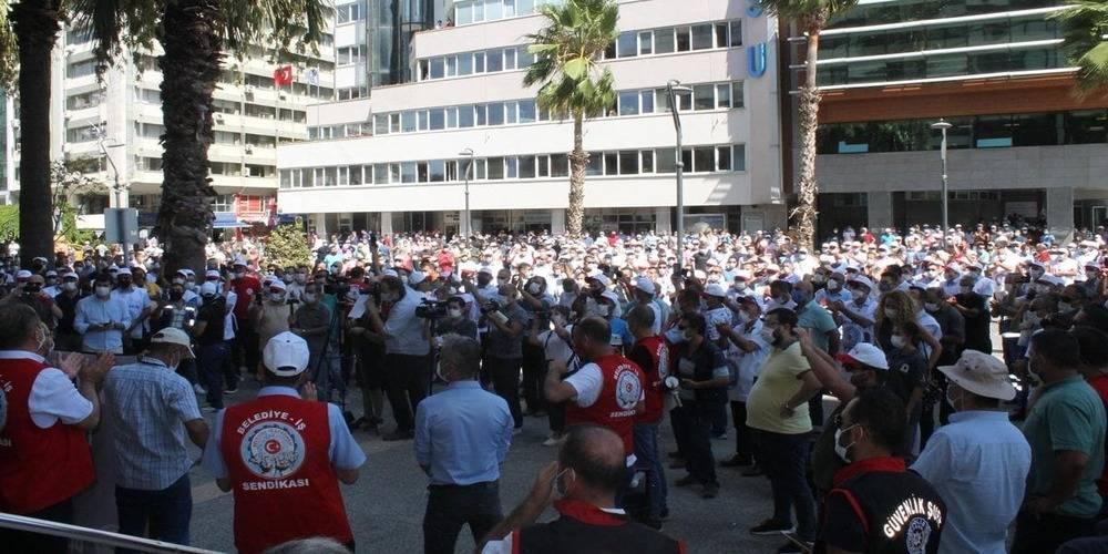 İzmir Büyükşehir Belediyesine grev kararı asıldı