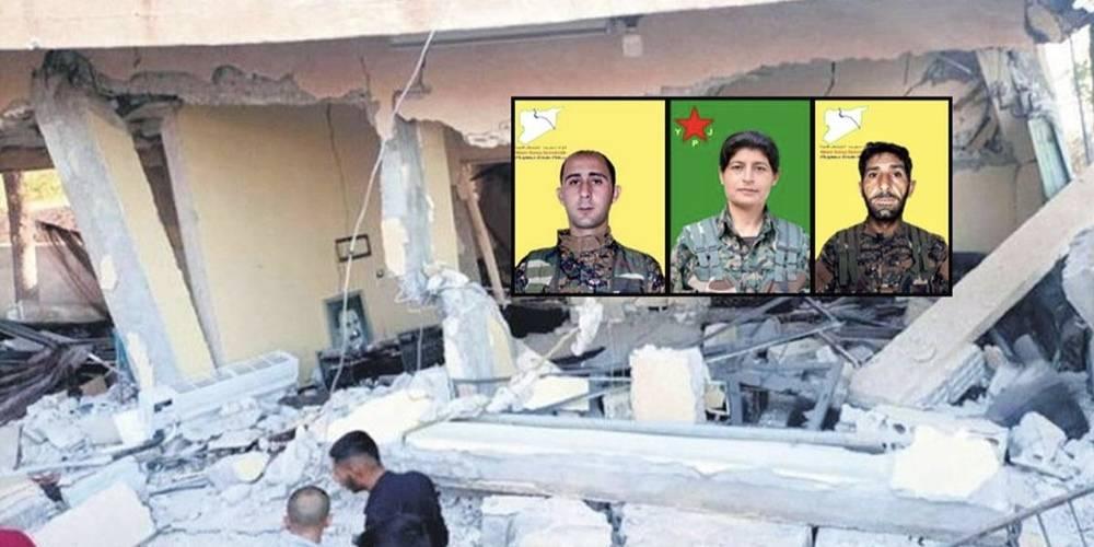 MİT koordinatı verdi SİHA'lar vurdu! PKK/YPG'nin sözde üst düzey teröristlerin toplandığı bina yerle bir edildi…