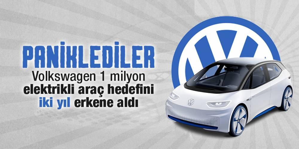 Paniklediler! Volkswagen 1 milyon elektrikli araç hedefini iki yıl erkene aldı