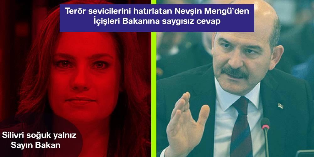 """""""Gazetecilik yapmak istiyorum"""" diyen Süleyman Soylu'ya Nevşin Mengü'den küstah cevap"""