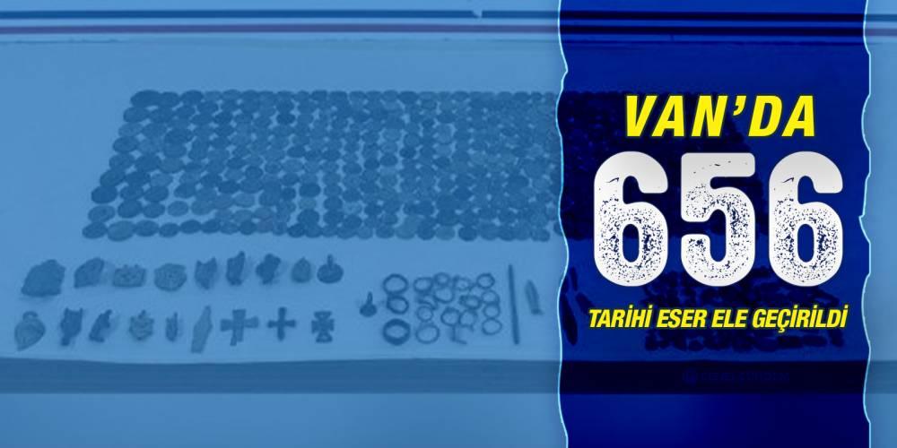 Van'da 656 tarihi eser ele geçirildi
