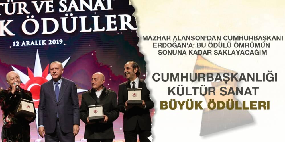 MFÖ'nün solisti Mazhar Alanson'dan Cumhurbaşkanı Erdoğan'a: Bu ödülü ömrümün sonuna kadar saklayacağım