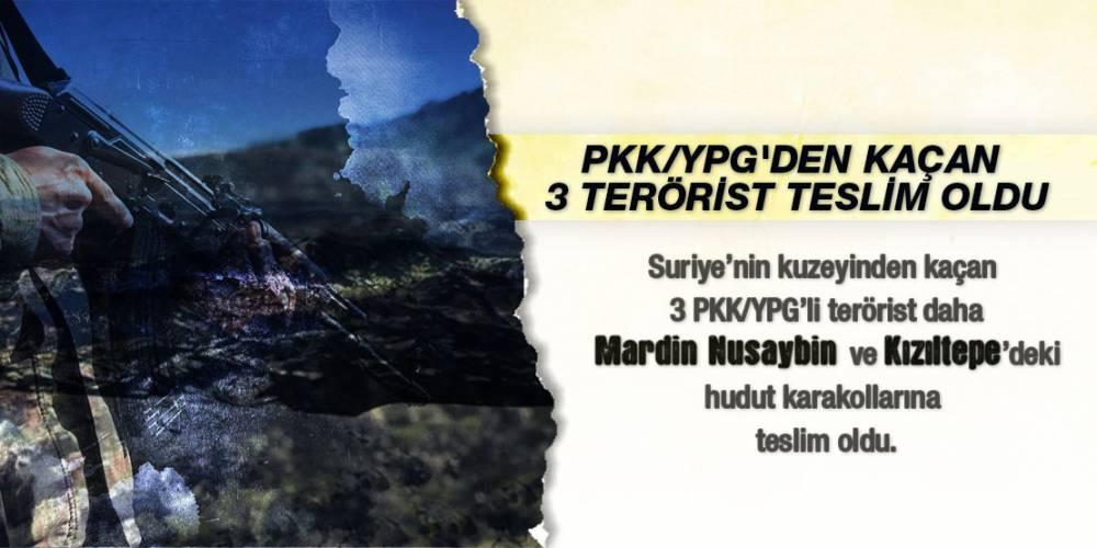 PKK/YPG'den Kaçan 3 Terörist Teslim Oldu