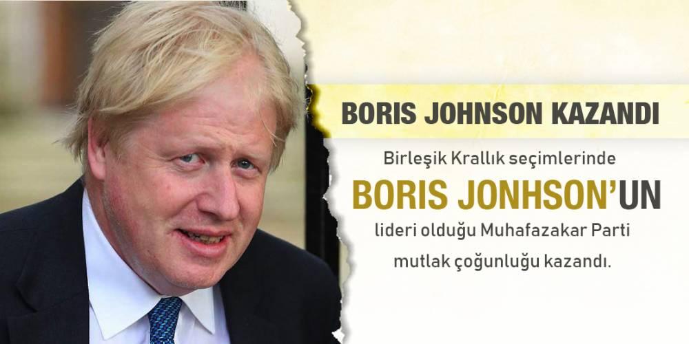 Birleşik Krallık seçimlerinde Johnson'ın lideri olduğu Muhafazakar Parti mutlak çoğunluğu kazandı