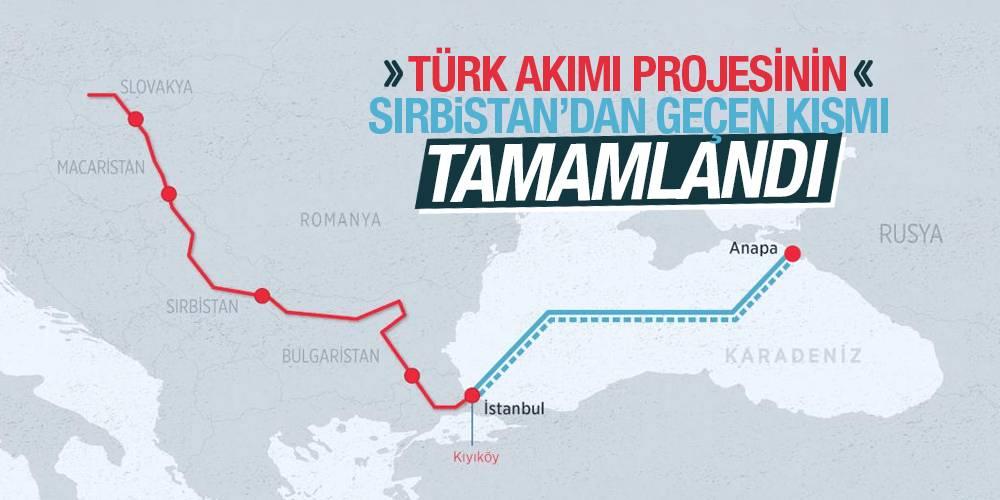 Türk Akımı projesinin Sırbistan'dan geçen kısmı tamamlandı