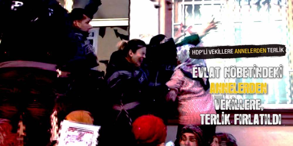 HDP'li vekillere Diyarbakır Anneleri'nden terlik
