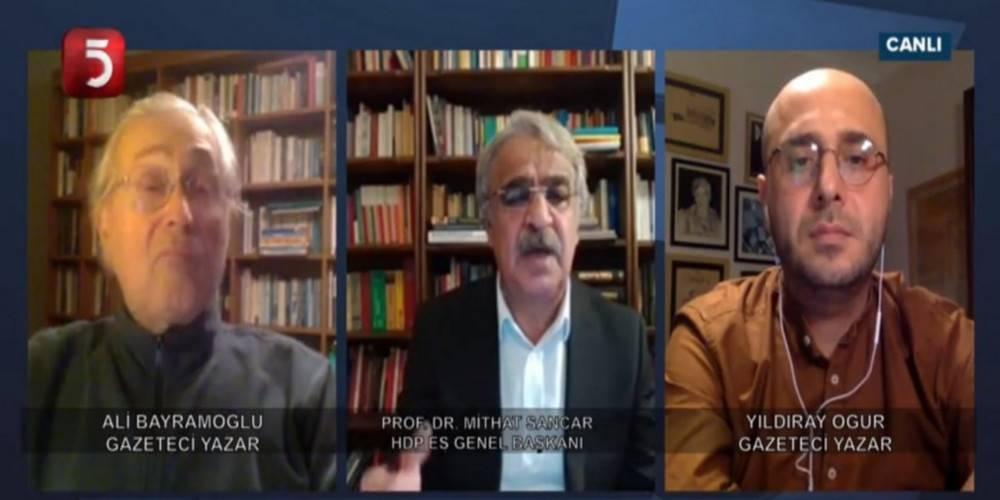 Saadet Partisi'nin kanalı TV5'te konuşan HDP Eş Genel Başkanı Mithat Sancar'dan 'Selahattin Demirtaş'ı kurtaralım' çağrısı