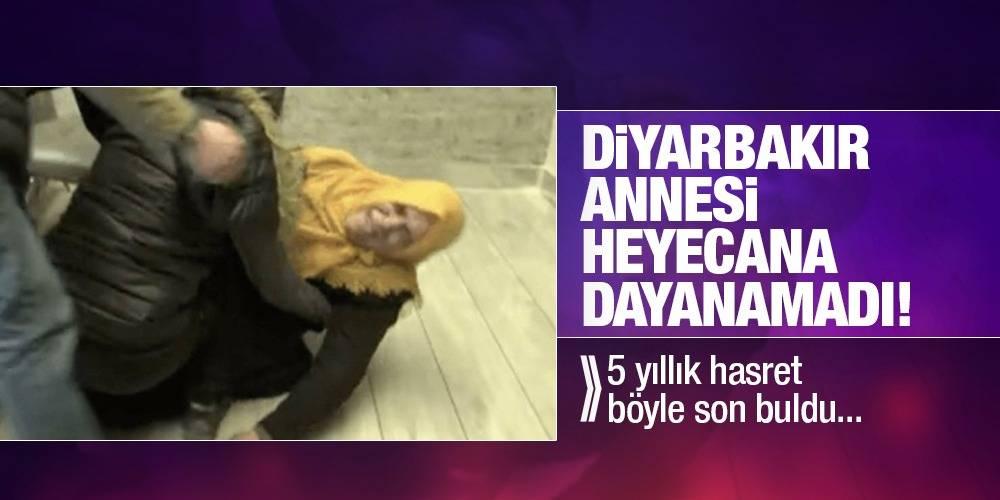 Diyarbakır annesi heyecana dayanamadı! 5 yıllık hasret böyle son buldu...
