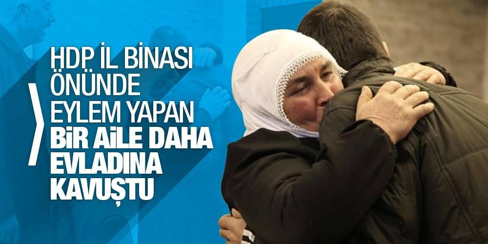 HDP İl Binası önünde eylem yapan bir aile daha evladına kavuştu