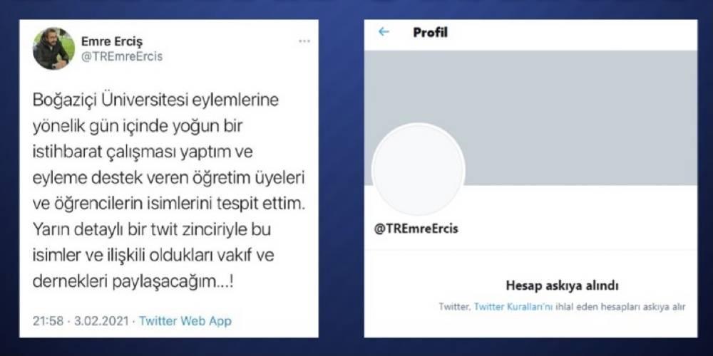 Twitter, Emre Erciş'in hesabını neden askıya aldı?