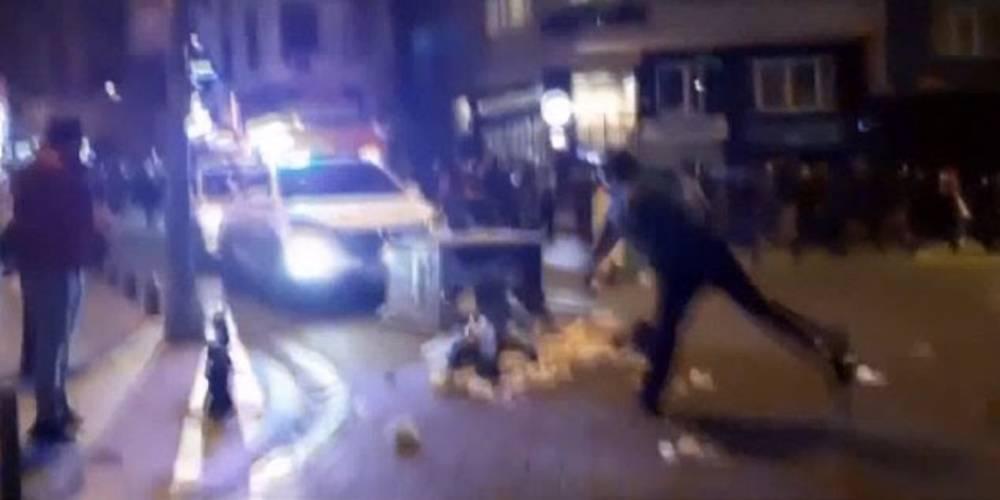 Kadıköy'deki Boğaziçi eylemlerinde polis aracını taşlayan provokatörler yakalandı