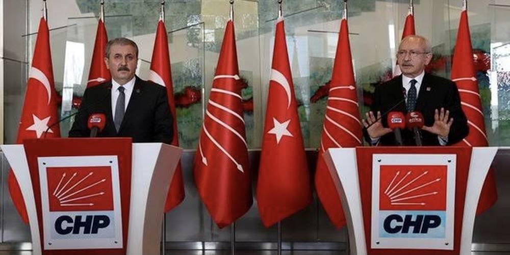 """BBP Genel Başkanı Mustafa Destici'ni sözlerinden sonra CHP Genel Başkanı Kılıçdaroğlu'nun rahatsızlığı yüzüne yansıdı: """"Ha Duran Kalkan, ha Pervin Buldan"""""""