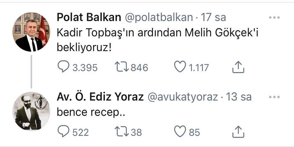 """Baro mensuplarından akla ziyan paylaşımlar: """"Kadir Topbaş'ın ardından Melih Gökçek'i bekliyoruz!, Bence Recep"""""""