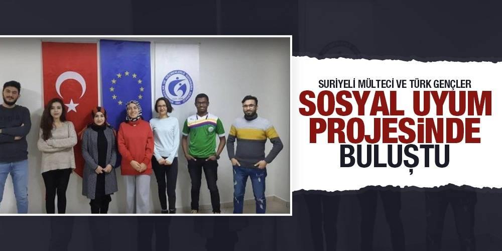 Suriyeli mülteci ve Türk gençler sosyal uyum projesinde buluştu