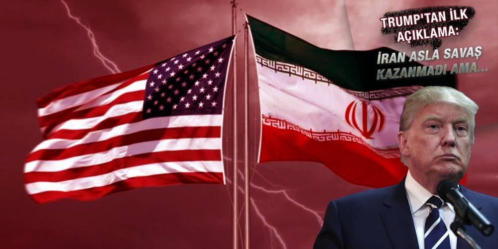 Trump'tan ilk açıklama: İran asla savaş kazanmadı ama...