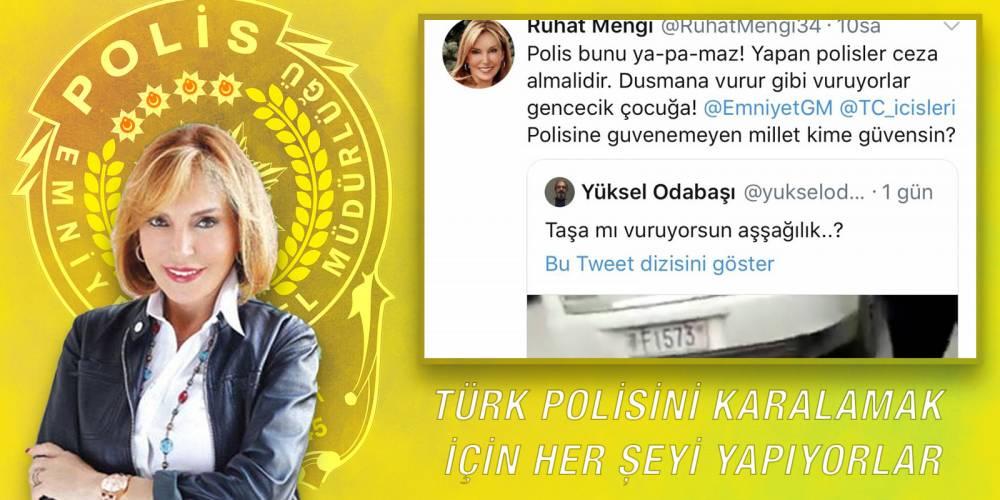 Türk polisini karalamak için her şeyi yapıyorlar