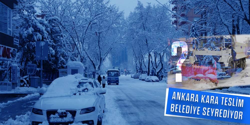Ankara kara teslim, belediye seyrediyor!