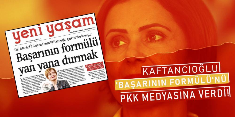 Kaftancıoğlu 'başarının formülü'nü PKK medyasına verdi!