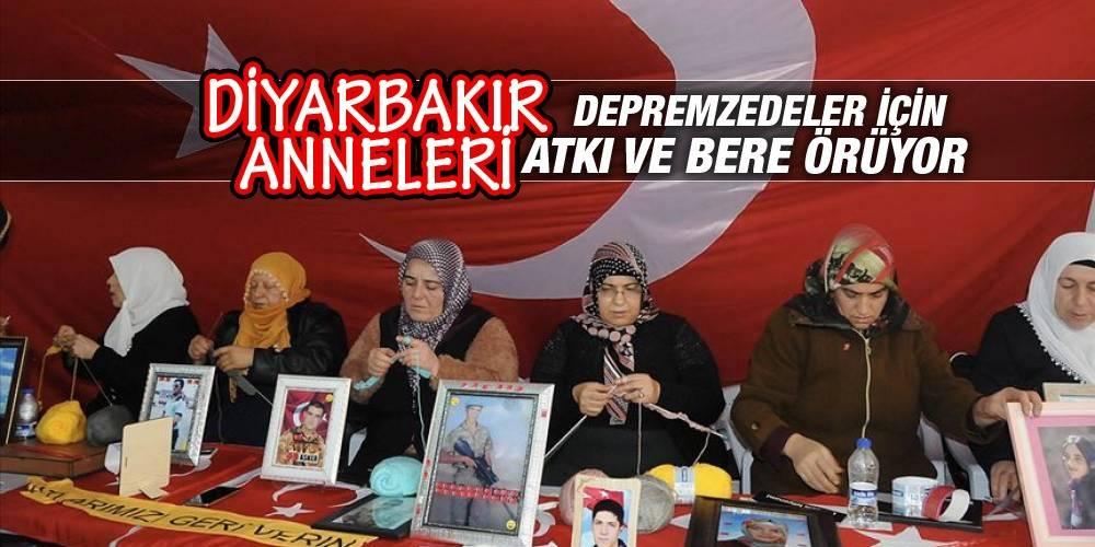 Diyarbakır anneleri, depremzedeler için atkı ve bere örüyor