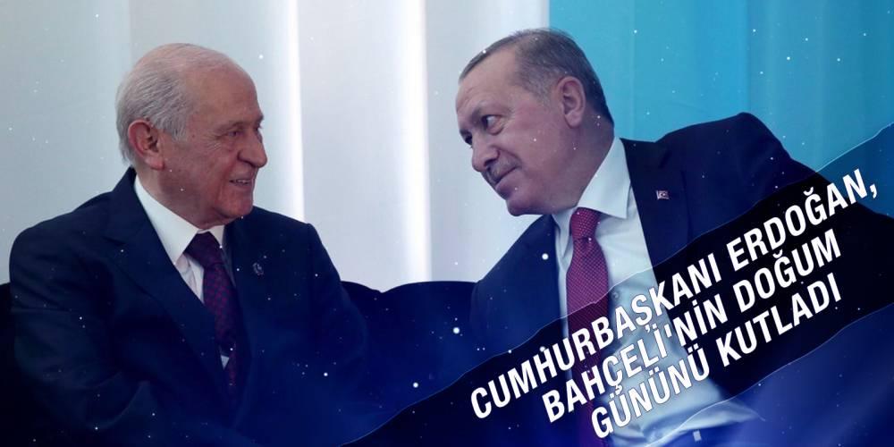Cumhurbaşkanı Erdoğan, Bahçeli'nin doğum gününü kutladı