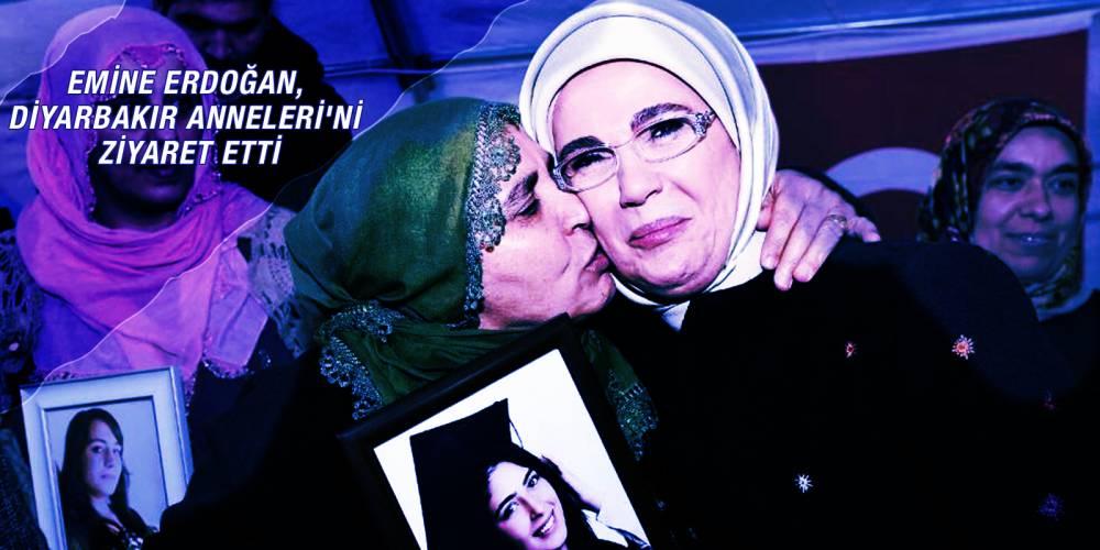 Emine Erdoğan, Diyarbakır Anneleri'ni ziyaret etti