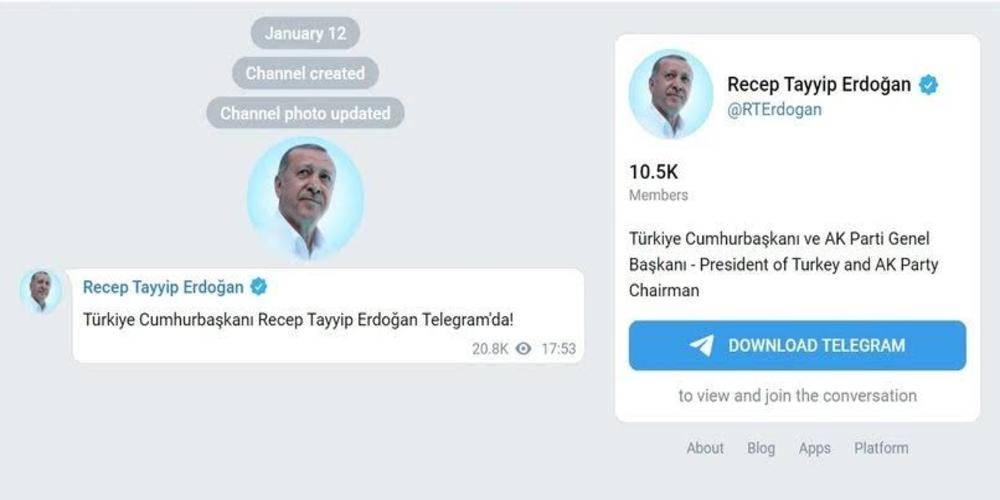 Telegram'ın kurucusu Pavel Durov: Recep Tayyip Erdoğan'ın Telegram'a katılmasından onur duyduk