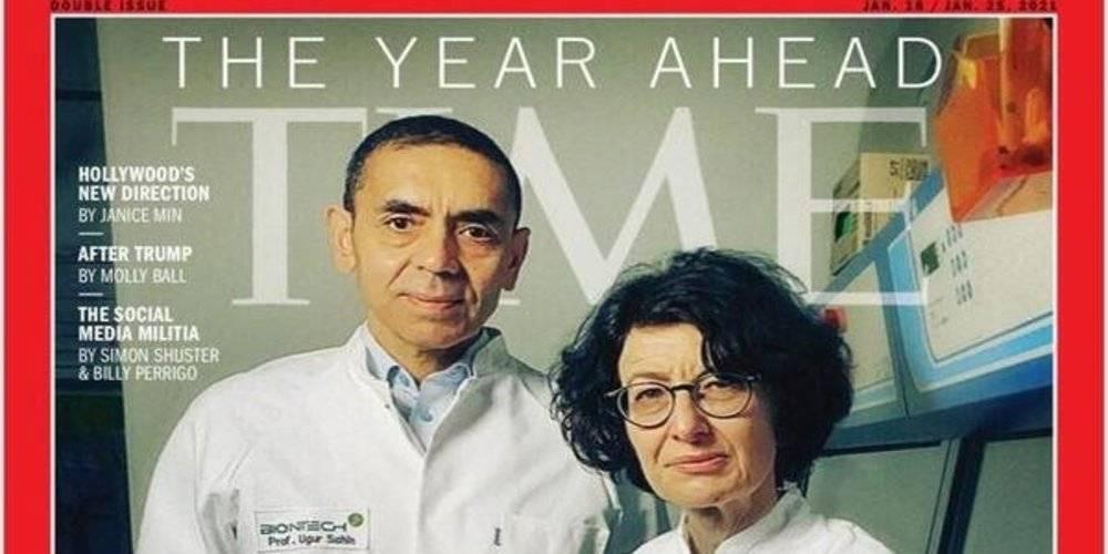 Prof. Dr. Uğur Şahin ve Özlem Türeci TIME dergisine kapak oldu