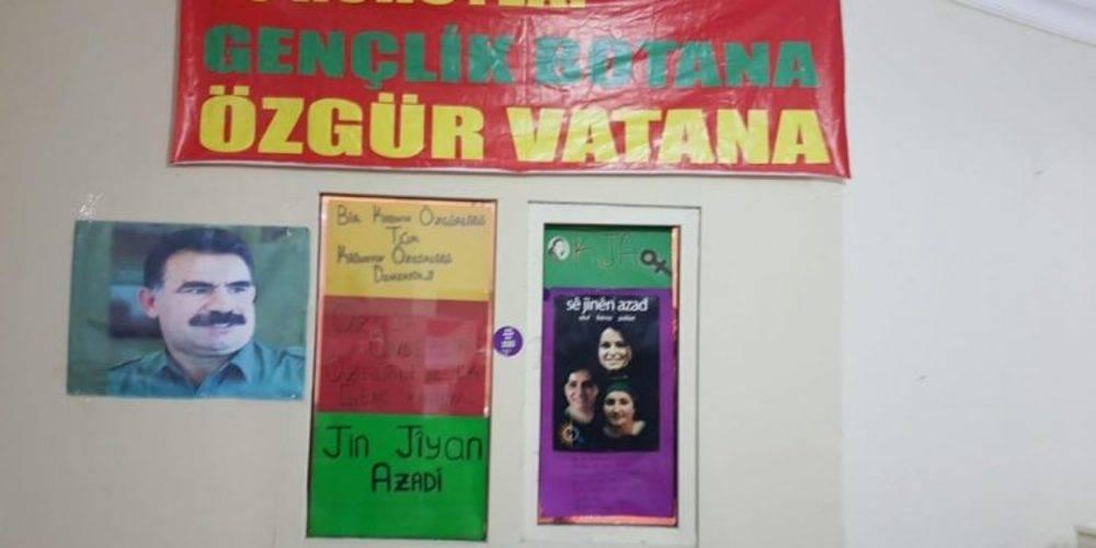 Terörist başı Abdullah Öcalan posterlerinin bulunduğu HDP Esenyurt ilçe binasında elektrik de kaçakmış!