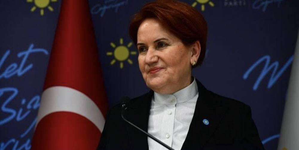 İYİ Parti Genel Başkanı Meral Akşener, HDP'nin Esenyurt ilçe binasına terörist başı Abdullah Öcalan'ın posterlerinin asılmasına karşı çıkamadı