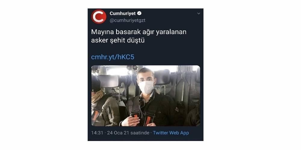 """Cumhuriyet Gazetesi """"terör örgütü PKK"""" diyemedi"""