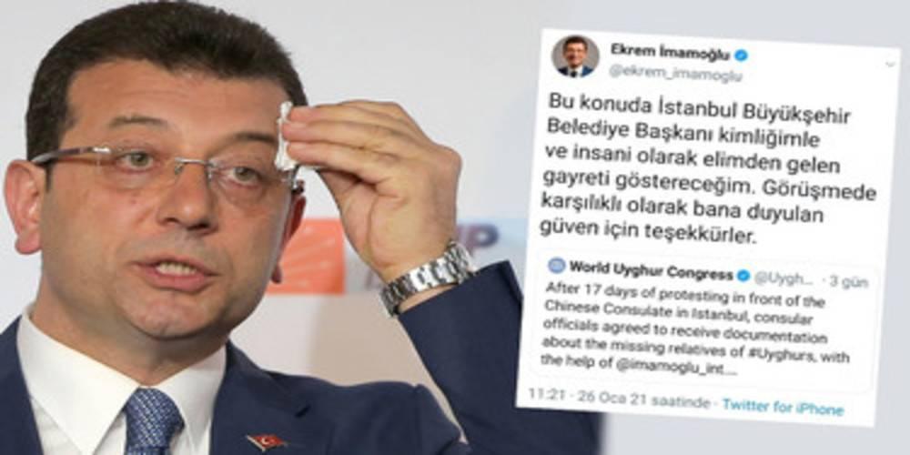 Ekrem İmamoğlu'nun Uygur Türkleri üzerinden yapmak istediği PR suya düştü: Çeviri hatasını fırsata çevirmek istedi
