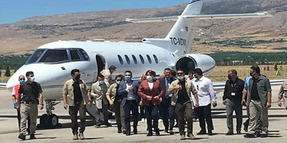"""""""İktidar olduğumuzda Cumhurbaşkanlığı'nın uçak filosunu satacağız"""" diyen İYİ Parti lideri Akşener Malatya'ya özel jetle uçtu"""