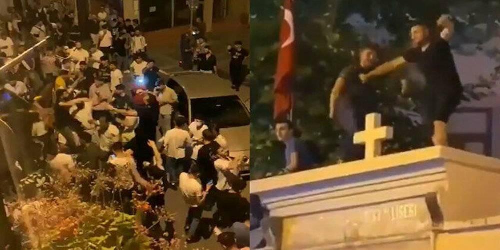 """Kadıköy'de alkollü şekilde kilise duvarında dans edenleri """"Erdoğan'ın eşkıyaları"""" diyerek servis ettiler… 3 kişi gözaltına alındı!"""