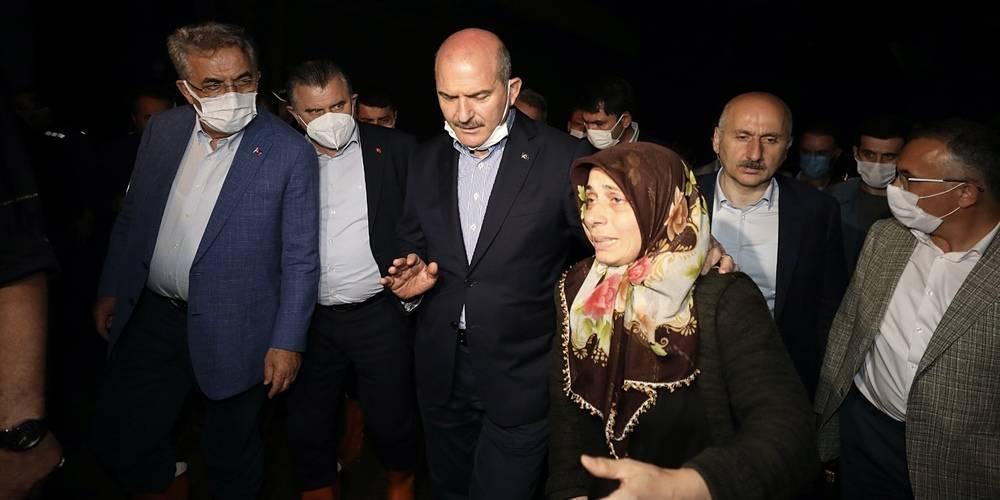 Rize'de sel felaketi! 2 ölü, 6 kişi kayıp... Cumhurbaşkanı Erdoğan talimat verdi: Bakanlar bölgede