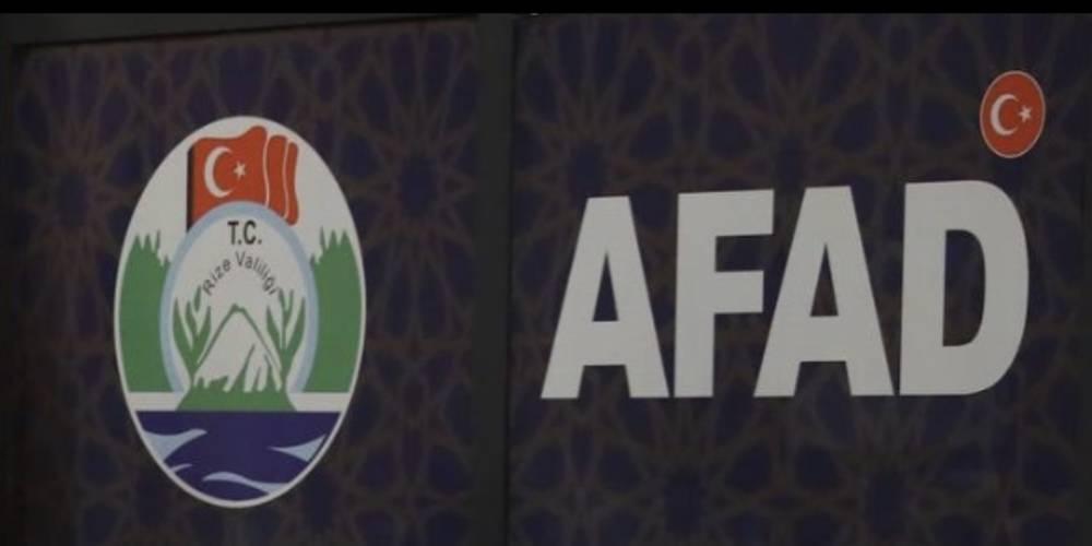 Rize'deki sel felaketine ilişkin AFAD'dan açıklama