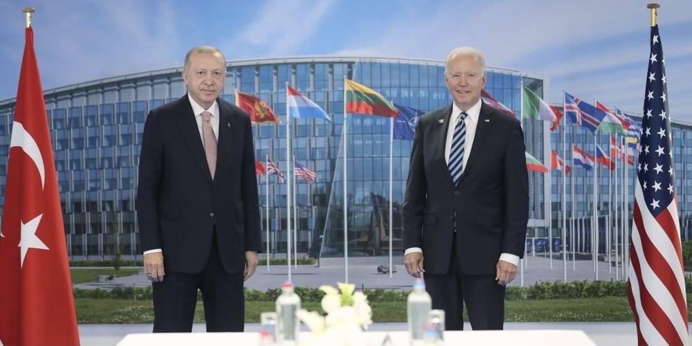 Cumhurbaşkanı Erdoğan, ABD Başkanı Biden ile Brüksel'de bir araya geldi