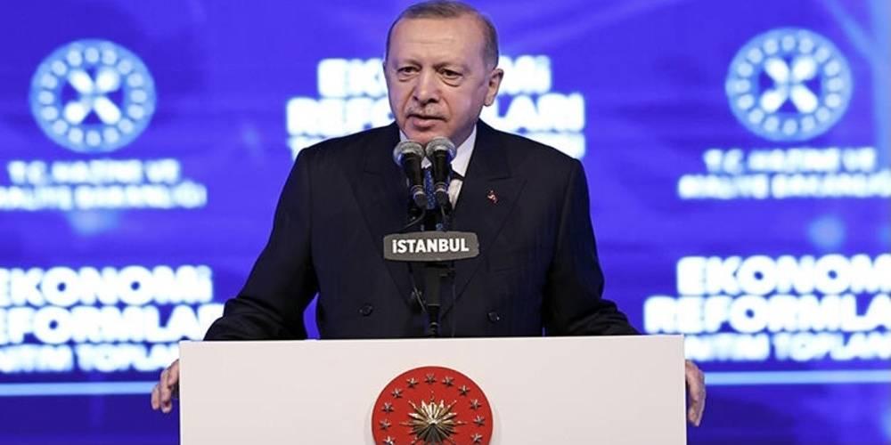 Cumhurbaşkanı Erdoğan: Reform paketimizde dar gelirli küçük esnafımıza yönelik bir vergi muafiyeti de yer alıyor