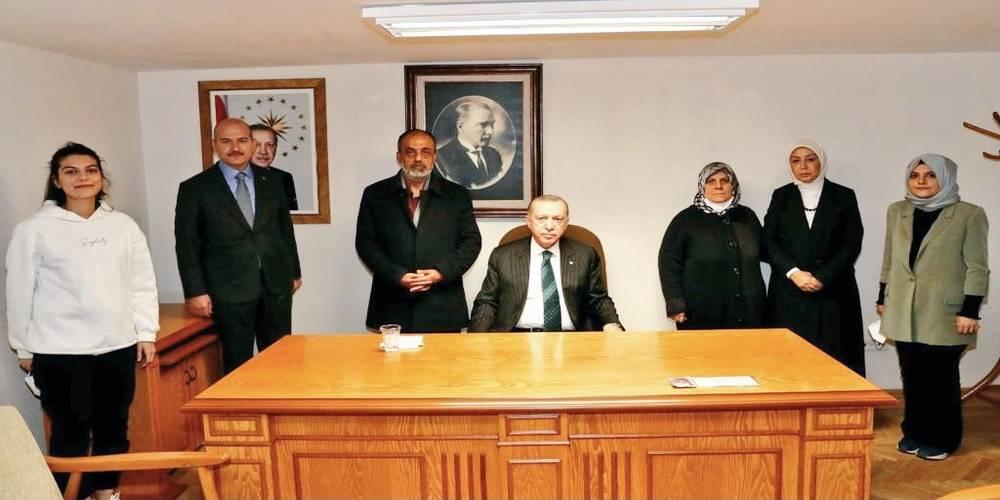 Cumhurbaşkanı Erdoğan Gara şehidinin ailesiyle görüştü
