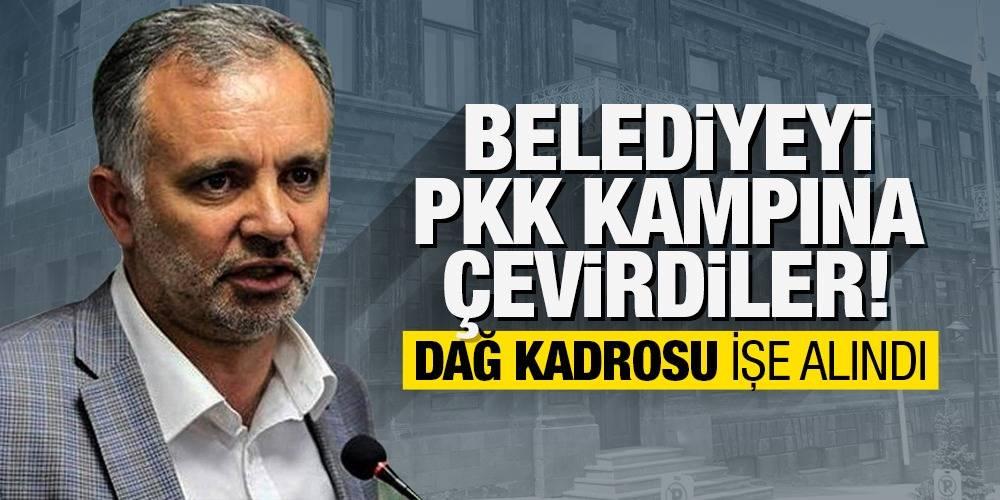 Belediyeyi PKK kampına çevirdiler!  Dağ kadrosu işe alındı...