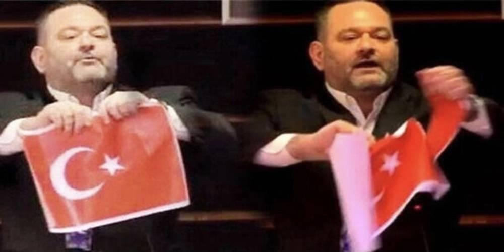 Türk bayrağı yırtan ırkçı vekil ülkesine iade edilecek!