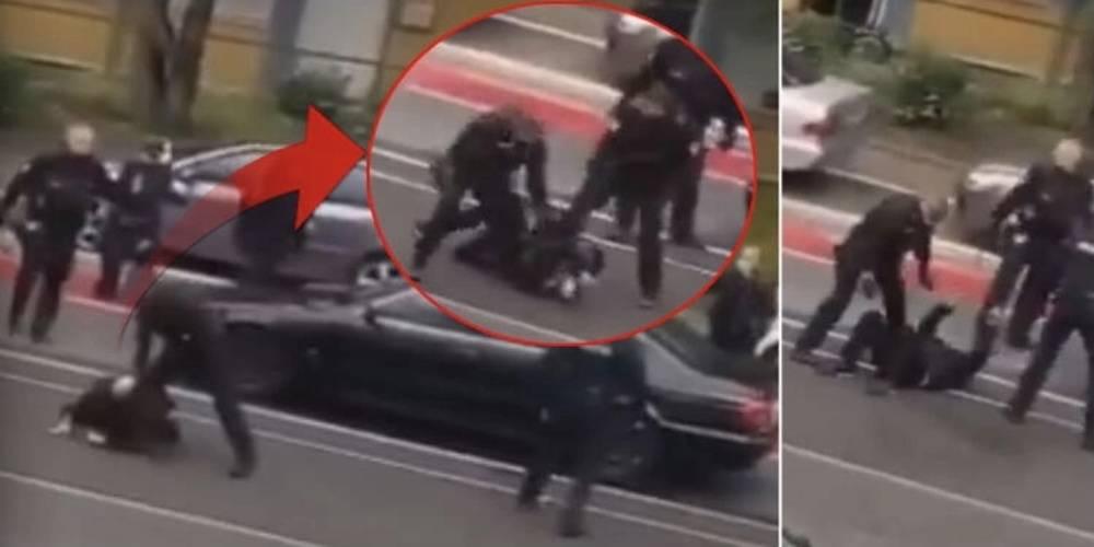 Alman polisi Türk vatandaşlarını darp etti