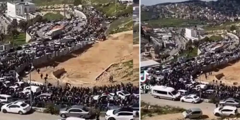 Filistinliler akın akın Mescid-i Aksa'ya ilerliyor!