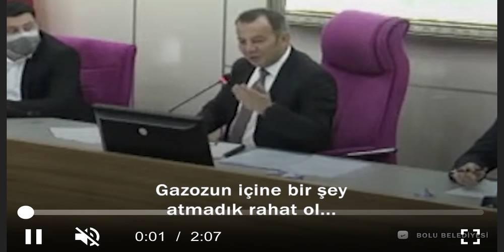 Bolu Belediye Başkanı Özcan'dan ahlak sınırını aşan sözler: Gazozuma hap mı attınız ne yaptınız, şebekeye şap katacağım