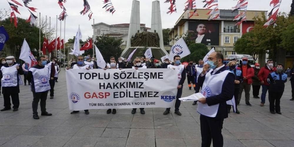 CHP'li belediyelerde sular durulmuyor! Bakırköy Belediyesi emekçileri toplu sözleşme eylemlerine devam etti