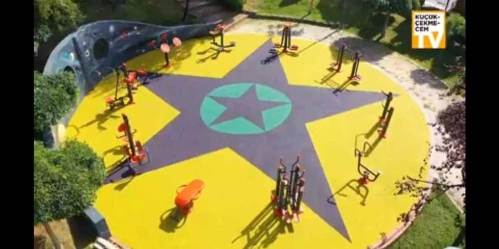 Küçükçekmece Belediyesi'ne, yenilediği çocuk parkında kullanılan görsellerin terör örgütü sembollerini andırdığı gerekçesiyle soruşturma açıldı