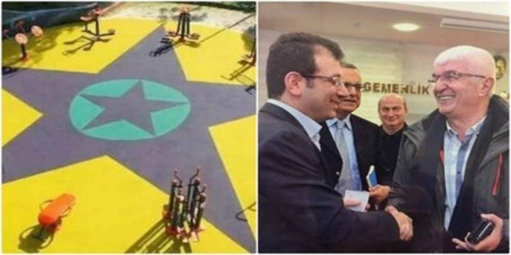 Çocuk parkına terör örgütü simgesi koyan CHP'li Küçükçekmece Belediye Başkan Yardımcısı, Ekrem İmamoğlu'nun müdürü çıktı!